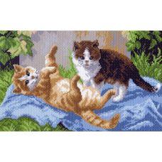 Рисунок на канве Веселые игры, 28x37 (18x29), Матренин посад