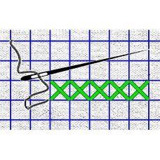 Рисунок-схема на водорастворимом флизелине КФО-5001, 14,8x21 см, Каролинка