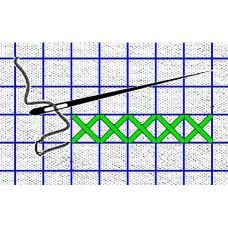 Рисунок-схема на водорастворимом флизелине КФО-5003, 14,8x21 см, Каролинка
