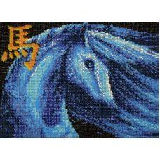 Набор для вышивания Синяя лошадь, 18,7x27, Вышиваем бисером
