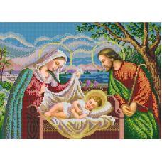 Ткань для вышивания бисером Святое семейство, 29x39, Конек