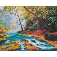 Живопись на холсте Горная речка, 40x50, Paintboy, GX21354