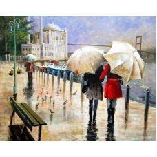 Живопись по номерам Под дождем, 40x50, Paintboy, GX31607