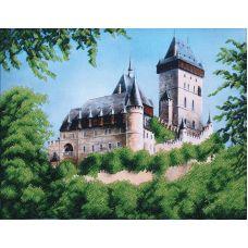 Набор для вышивания бисером Замок, 39,5x31, Магия канвы