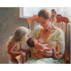 Живопись по номерам Материнское счастье, 40x50, Paintboy, GX27759