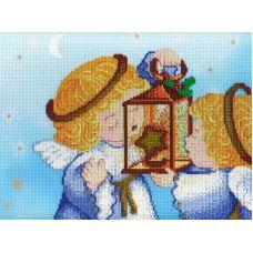 Набор для вышивания крестом Ангелочки. Лето., 22x28, МП-Студия, дизайнерская канва