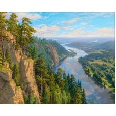 Мозаика стразами Вольный ветер, 40x50, полная выкладка, Алмазная живопись