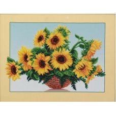 Набор для вышивания бисером Солнечные цветы, 44x34, Магия канвы