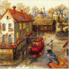 Набор для вышивания крестом Теплая осень, 30x30, Риолис, Сотвори сама