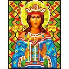 Набор для вышивания бисером Святая Ирина, 13x17, Каролинка