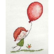 Набор для вышивания крестом Воздушный шарик, 10x15, НеоКрафт