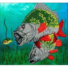 Набор для вышивания Под водой, 24,5x27, Вышиваем бисером