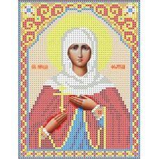 Набор для вышивания бисером Святая Светлана, 13x18, Каролинка