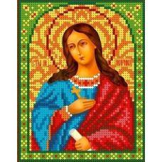 Набор для вышивания бисером Святая Марина, 13x16, Каролинка