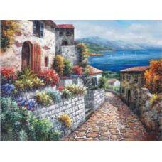 Алмазная мозаика Средиземное море-2, 65x49, полная выкладка, Jing Cai Ge