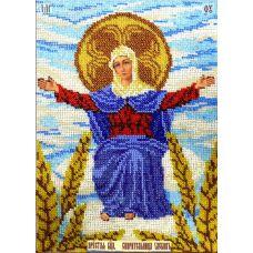 Набор для вышивания Богородица Спорительница хлебов, 19x27,5, Вышиваем бисером