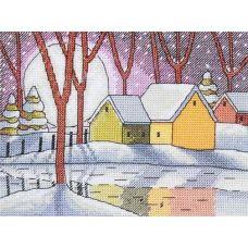 Набор для вышивания крестом Зимнее отражение, 14x19, НеоКрафт