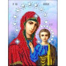 Набор для вышивания в подарочной упаковке Казанская Богородица, 16x13, Вышиваем бисером