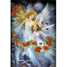 Рисунок на шелке Рождественская сказка, 37x49 (26x38), Матренин посад