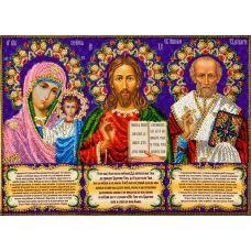 Набор для вышивания Иконостас с молитвами, 36x27, Вышиваем бисером