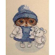 Набор для вышивания крестом Снежность, 11x15, НеоКрафт