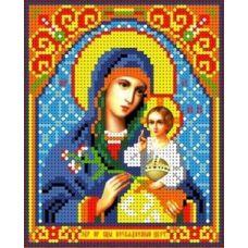 Набор для вышивания бисером Богородица Неувядаемый цвет, 13x16, Каролинка