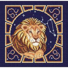 Набор для вышивания бисером Лев , 20x20, МП-Студия
