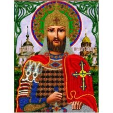 Набор для вышивания Александр Невский, 19x25,5, Вышиваем бисером