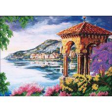 Набор для вышивания бисером Пейзаж с альтанкой, 39,5x29, Магия канвы