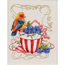 Набор для вышивания крестом Вкусняшки для пташки, 18x14,5, Золотое руно