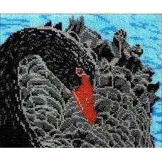 Набор для вышивания Черный лебедь, 19x23, Вышиваем бисером