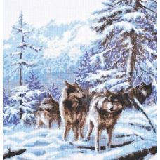 Набор для вышивания Морозное утро, 26x27, Палитра