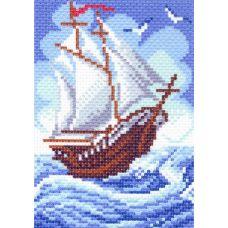 Рисунок на канве Кораблик, 16x20, Матренин посад