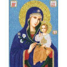 Набор для вышивания бисером Образ Божией Матери Неувядаемый цвет, 26,6x19,1, Золотое руно