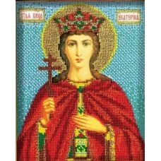 Набор для вышивания бисером Святая Екатерина, 12x14,5, Кроше