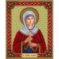 Набор для вышивания бисером Св. Велико-Мученица Марина, 20x25, Паутинка