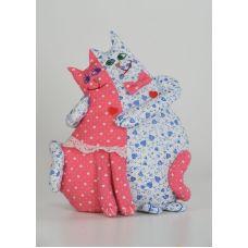 Набор для шитья Коты-неразлучники, 26см, Перловка