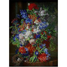 Схема Принт для вышивки бисером Букет цветов, 27x37, Вышиваем бисером