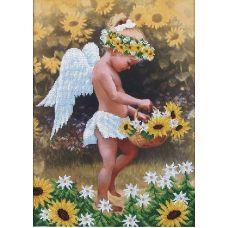 Набор для вышивания бисером Мой ангел, 27x38, Магия канвы