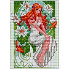 Алмазная мозаика на магнитной основе Невеста, 20x28,5, полная выкладка, Вышиваем бисером