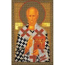 Набор для вышивания бисером Святой Николай Чудотворец, 17x26, Кроше
