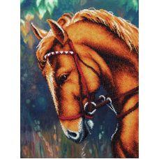 Набор для вышивания бисером Донской жеребец, 28,5x38, Магия канвы