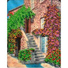 Схема Принт для вышивки бисером Цветущая лестница, 33x27, Вышиваем бисером