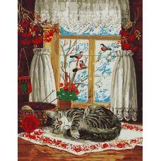 Живопись по номерам Зима за окном, 40x50, Paintboy, GX8432
