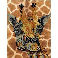 Набор для вышивания Жираф, 19x25, Вышиваем бисером