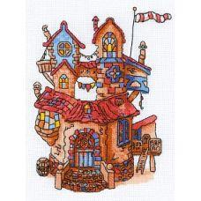 Набор для вышивания крестом Сказочный домик, 18x24, Риолис, Сотвори сама