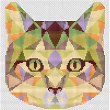 Набор для вышивания крестом Кошка, 16,5x17,6, Тутти