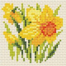 Алмазная мозаика Нарцисс, 10x10, полная выкладка, Риолис