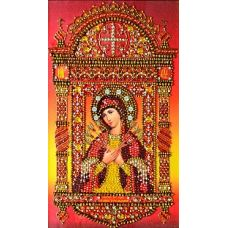 Набор для вышивания хрустальными камнями Богородица Семистрельная, 22,5x37, Хрустальные Грани