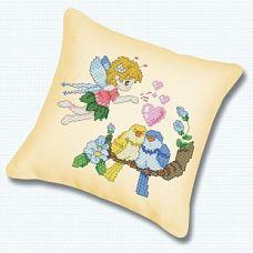 Набор для вышивания крестом Подушка Птички на ветке, 45x45, Белоснежка